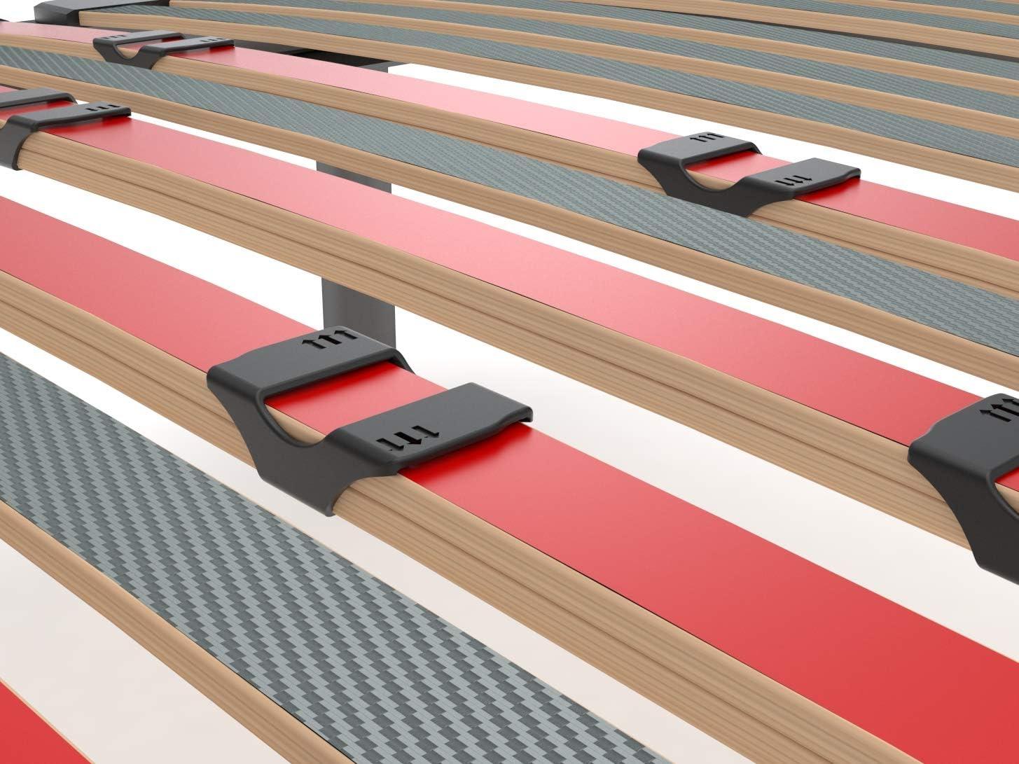 LA WEB DEL COLCHON Somier Multiláminas Regulador (*) 75 x 200 x 5 cms. (6 Patas Incluidas)