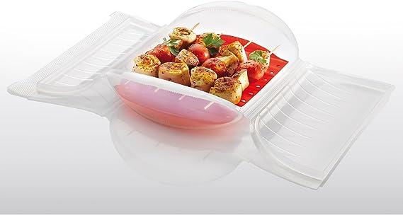 Lékué Estuche de Vapor c/Bandeja para el microondas, Color Transparente con una Capacidad de 650 ml (1-2 Personas): Amazon.es: Hogar