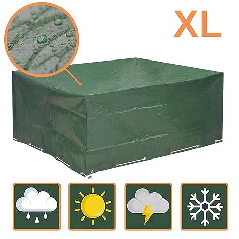 Funda muebles jardin 250x210x90 - funda mesa jardin de agua, protege contra el viento y las condiciones climáticas