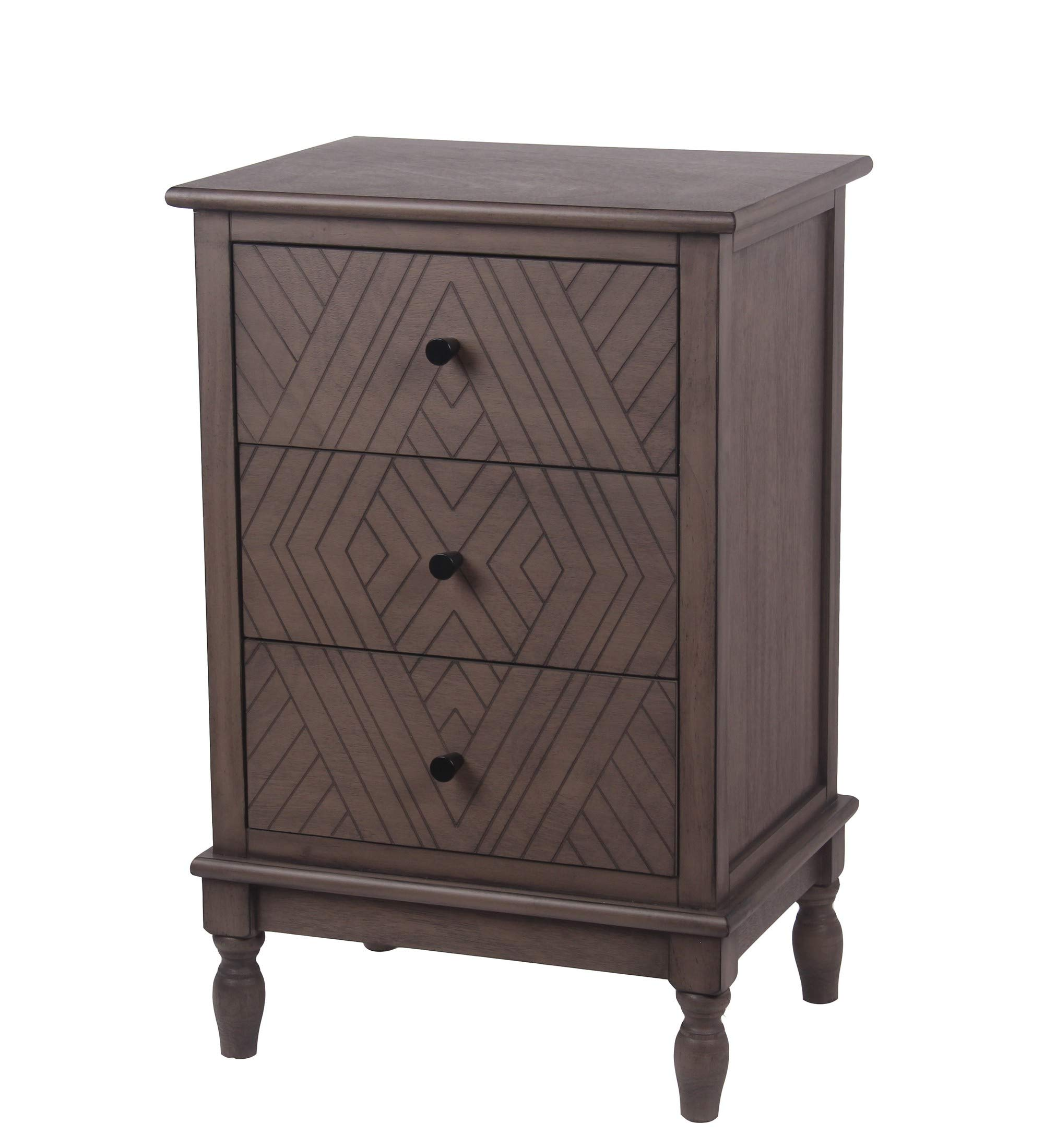 Privilege Vintage Ash 3 Drawer Accent Chest 28648 by Privilege