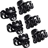 Bememo 24 Pack 3 cm Mini Grip Octopus Clip Spider Jaw Hair Claw Clips (Black)