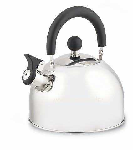 Edelstahl 2,2L Wasserkessel Flötenkessel Teekessel Wasserkocher Induktion