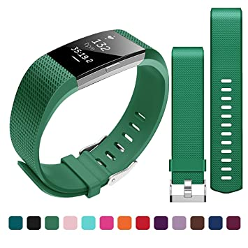 Bepack Fitbit Charge 2 Correa de Reemplazo, Pulsera de Silicona Suave Adjustable, Accesorios para Fitbit Charge 2