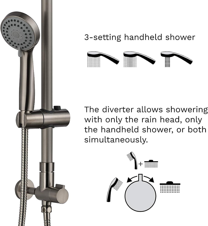 Polaris III Retrofit sistema de ducha de lluvia, combo de ducha de ...