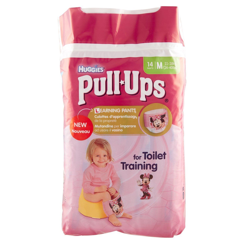 Huggies Pull-Ups Fille Taille 5/Medium (11-18 kg), Couche-culotte d'Apprentissage de la Propreté Disney Princesses x28 Culottes (Lot de 2 Paquets de 14 Culottes)