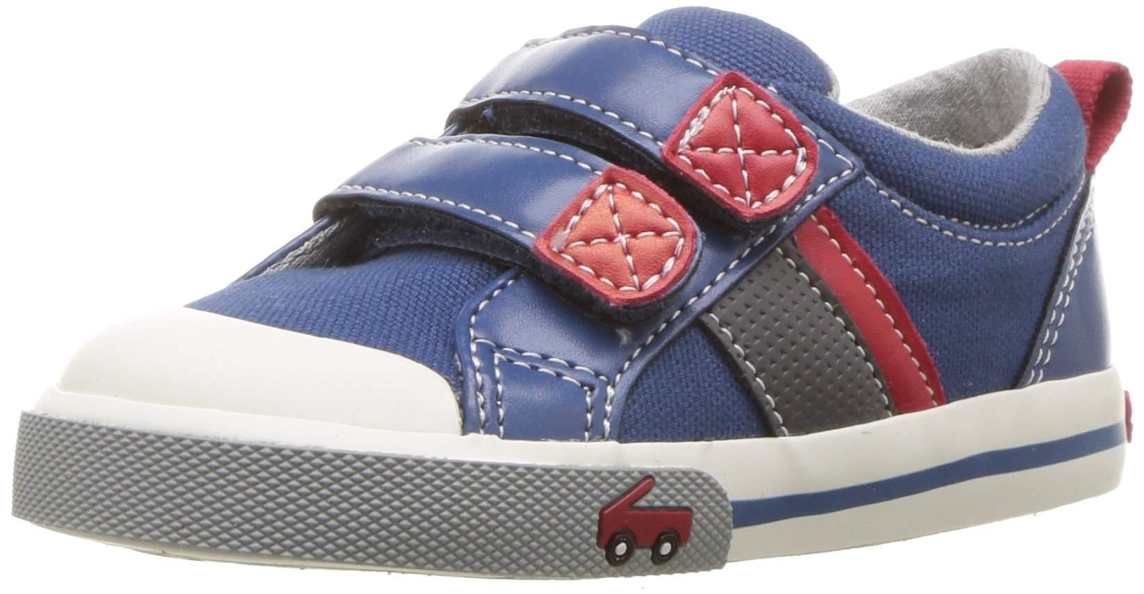 See Kai Run Boys' Russell Sneaker, Blue, 9 M US Toddler