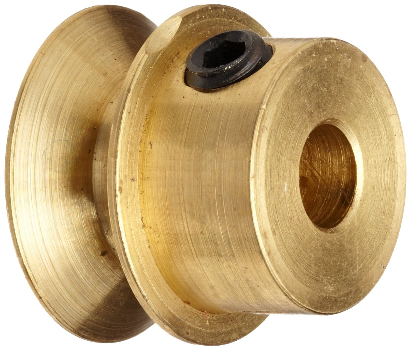 Fits Round Belts 0.1875 or Smaller 0.250 Face Boston Gear G1220 Grooved Pulley Brass