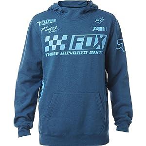 Fox Racing Mens Repaired Hoody Pullover Sweatshirt Large Heather Blue