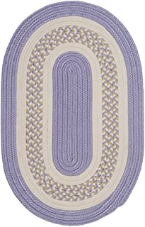 product image for Flowers Bay Round Area Rug, 6-Feet, Amethyst