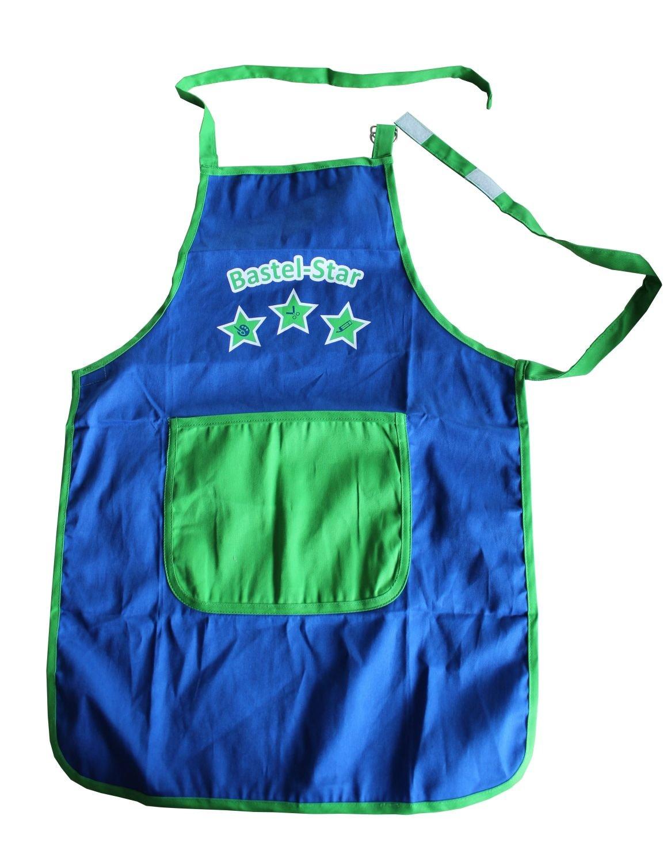 Idena 611183 - Bastelschürze, Alter 5 - 6 Jahre, blau