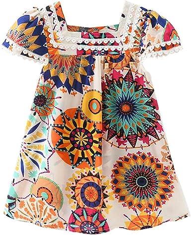 Switchali Vestidos Bebé, Bebé niña Algodón Princesa Vestidos ...