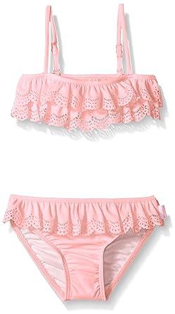 9a71068ff3462 Seafolly Little Girls' Jewel Cove Mini Tube Bikini, Carnation Pink, ...