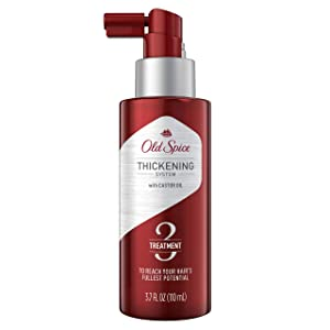 Old Spice Hair Thickening Treatment for Men, Infused with Castor Oil, Step 3, 3.7 Fl Oz