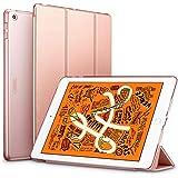 ESR iPad Mini 5 2019 ケース 軽量 薄型 PU レザー スマート カバー 耐衝撃 傷防止 クリア ハード 背面 ケース 三つ折り スタンド オートスリープ ウェイクアップ 機能 iPad Mini5(第五世代) 専用(ローズゴールド)