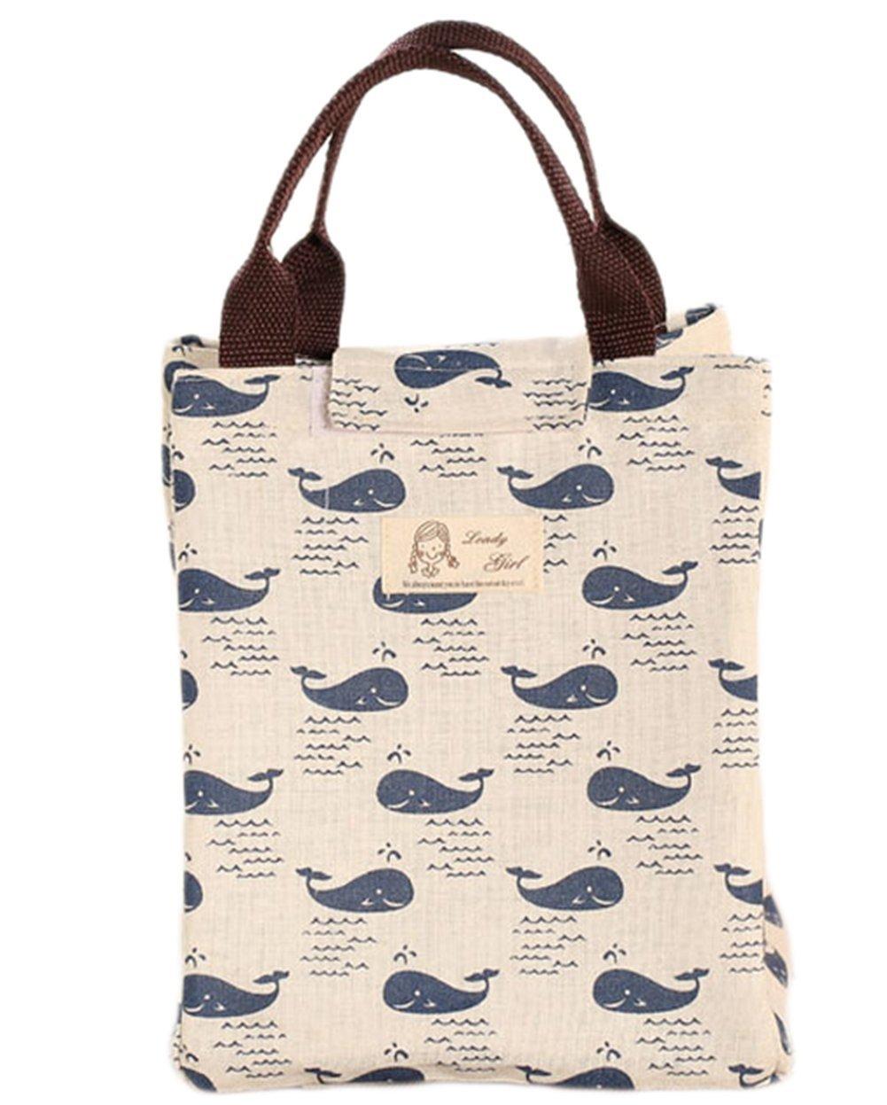 toruiwa Borsa Termica Pranzo Portatile Pieghevole sacs-repas impermeabile per picnic, Viaggio, ufficio e a l' ecole ufficio e a l' ecole