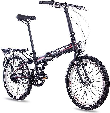 Bicicleta plegable 20 pulgadas aluminio Chrisson 3.0 con 7 ...