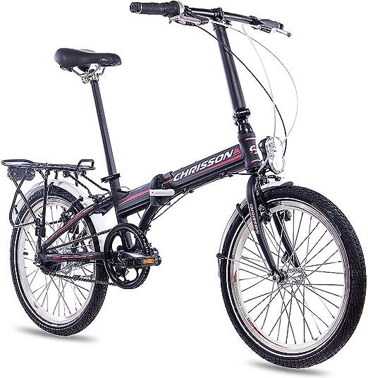 Bicicleta plegable 20 pulgadas aluminio Chrisson 3.0 con 7 velocidades Shimano Nexus negra: Amazon.es: Deportes y aire libre
