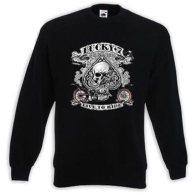 Biker Damen T-Shirt Lucky 7 weiß Chopper Motorcycle Custom V-Twin