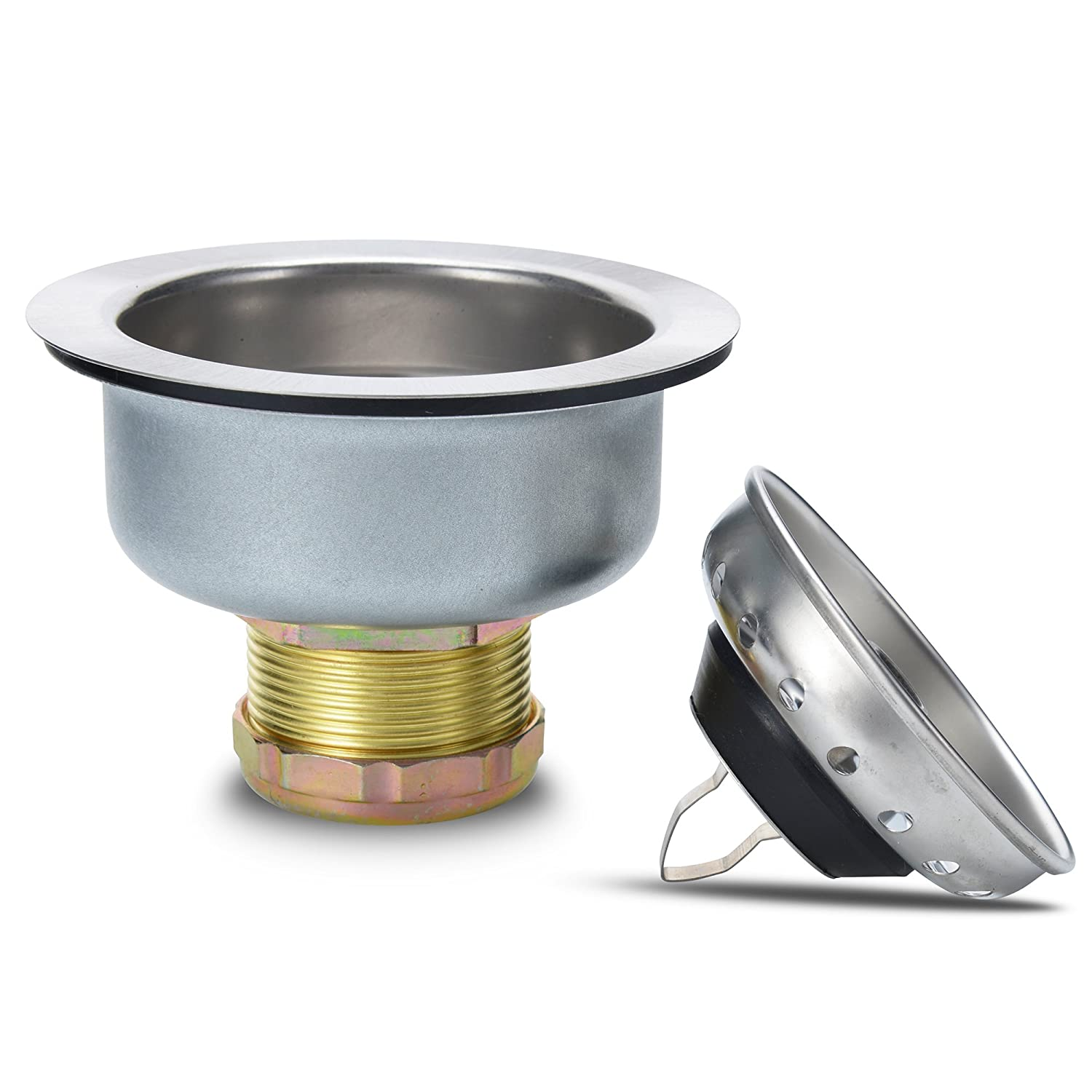 2-in-1 Stainless Steel Spring Clip Kitchen Sink Drain Strainer And Stopper Spring Clip - Universal Kitchen Sink Strainer Stopper