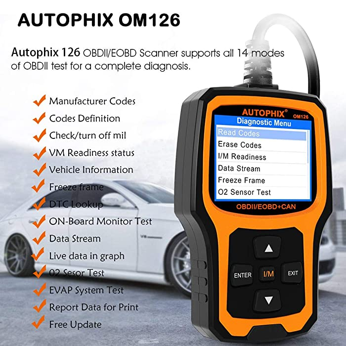 AUTOPHIX OM126 is one of the best engine code readers