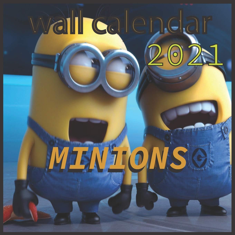 "Image for wall calendar 2021 MINIONS: 3Dmovie Minions 16 Months wall calendar 2021 8.5""x8.5"" Glossy"