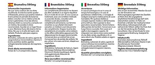 Amazon.com: Bromelain 350mg | Great Natural Anti-Inflammatory | 120 Capsules | 100% money back guarantee | Manufactured in the UK: Health & Personal Care