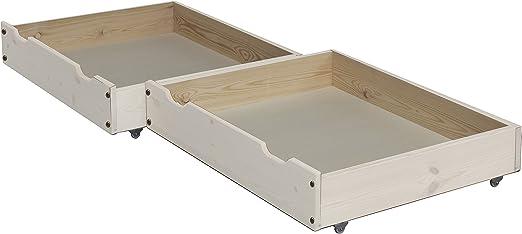 2 pieza cajones de cama/Cama cajón, 85 x 71 cm, de madera maciza sobre ruedas. kostbarer Espacio de Almacenaje Bajo La Cama se usan.: Amazon.es: Juguetes y juegos