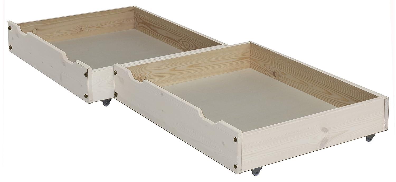 2 pieza cajones de cama/Cama cajón, 85 x 71 cm, de madera maciza sobre ruedas. kostbarer Espacio de Almacenaje Bajo La Cama se usan.: Amazon.es: Hogar