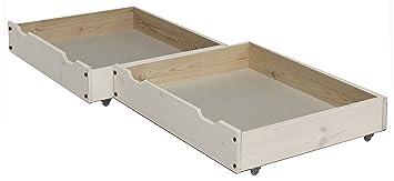 2 pieza cajones de cama/Cama cajón, 85 x 71 cm, de madera