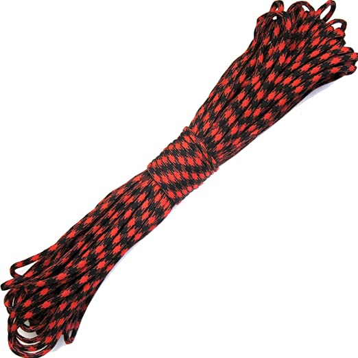 OUTDOOR SAXX Paracord Seil Schnur Type III 550 verschiedene Farben // Nylon Kernmantel Seil // belastbar bis 249kg // Zelt 10m Abspann Seil 33FT