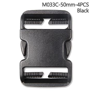 4pcs plástico hebilla Kit de reparación de liberación rápida hebillas para mochila Bolsa, negro, 50 mm: Amazon.es: Hogar