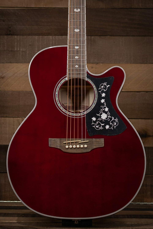Takamine Guitarra acústica eléctrica de 6 cuerdas, diestro, rojo vino (GN75CE WR)
