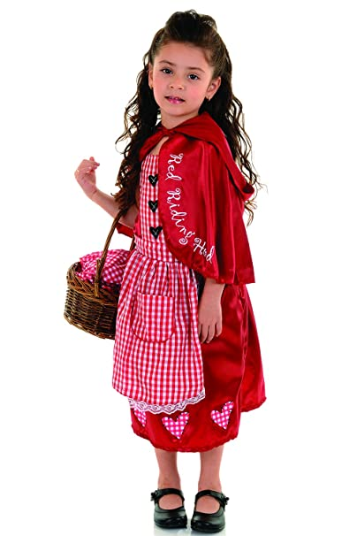 Jason Party Girls' Red Costume with Tippet 7-9 Years