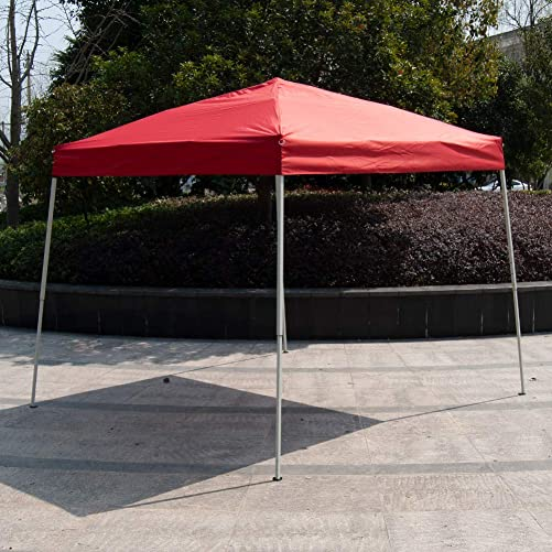 Polar Aurora 10 X 10 5 Color Slant Leg Easy Pop up Popup Canopy Party Sun Shade Tent Red