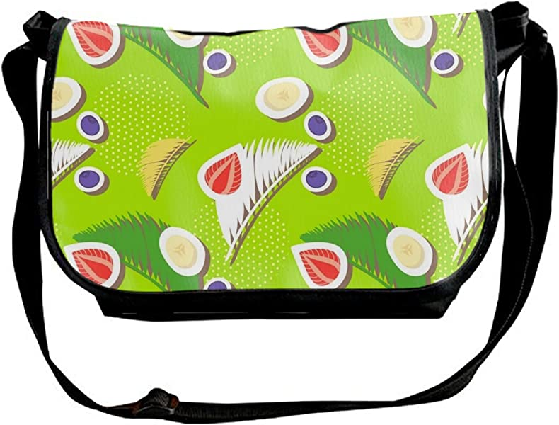 30519e6678 Unisex Berries Leaves Design Single Shoulder Sling Bag for Women   Men   Handbags  Amazon.com
