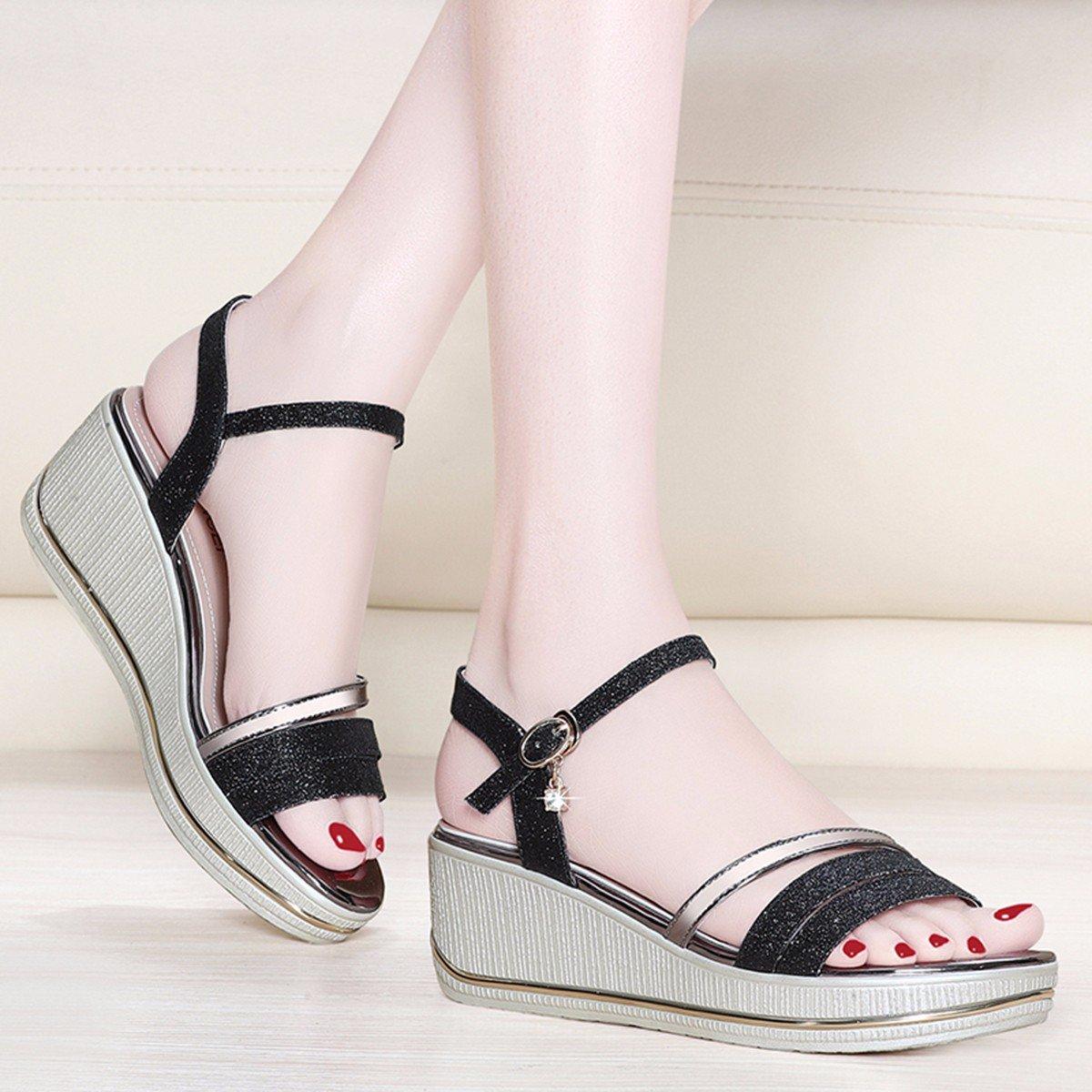 JRFBA-Schuhe Sandalen, Sandalen, Sandalen, Sommer Flachen Boden, Koreanischen Version, Neigung und Dicken Hintern Schuhe.  923775