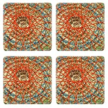 MSD Square Coasters IMAGE 34859091 Rope woven on bamboo woven