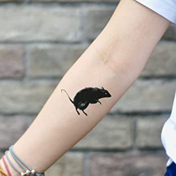 Amazon Com Black Rat Temporary Tattoo Sticker Set Of 2 Www Ohmytat Com Beauty