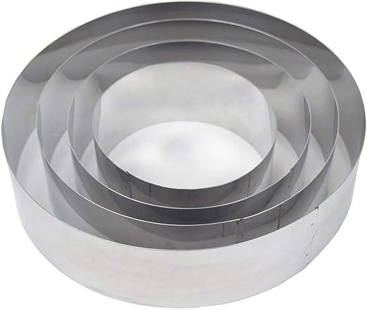 ONEDONE tainless Acero 15 To 30 cm ajustable para tarta Mousse molde molde para horno Tarta Decoraci/ón Hornear Anillo