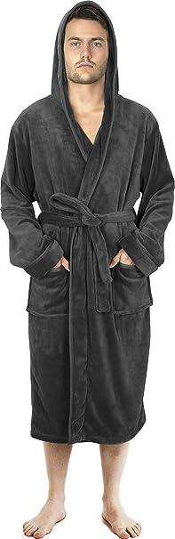 Herren Luxus Bademantel Dressing Kleid Bademantel Umhang Nachtwäsche Loungewear