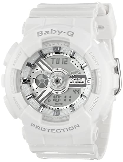 80289b9b6dd8c9 Image Unavailable. Image not available for. Colour: Casio Women's BA-110-7A3CR  Baby-G Analog Display Quartz White Watch