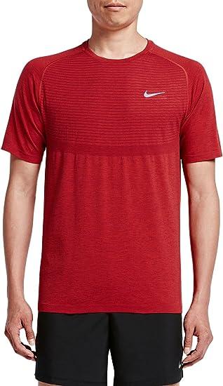 Nike Men's Dri-FIT Knit Running Top TEAM RED/UNIVERSITY RED LG