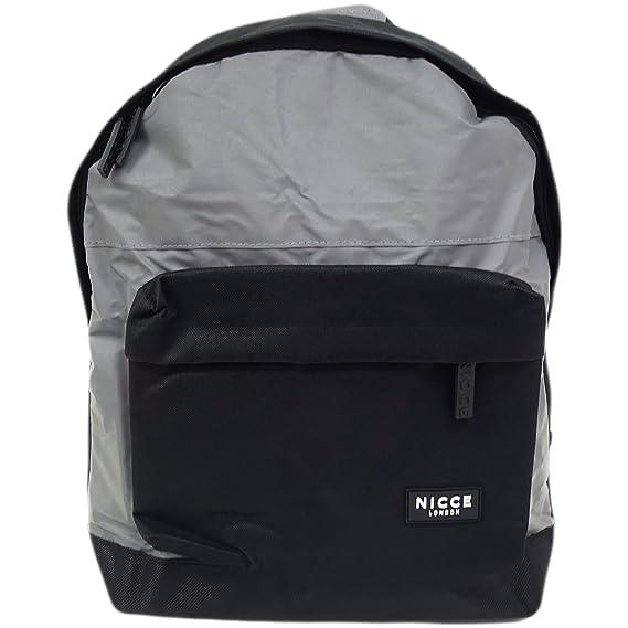 542fb9b2dd5201 Nicce Black Reflective Backpack   Rucksack Bag - Curtis  Amazon.co.uk   Clothing