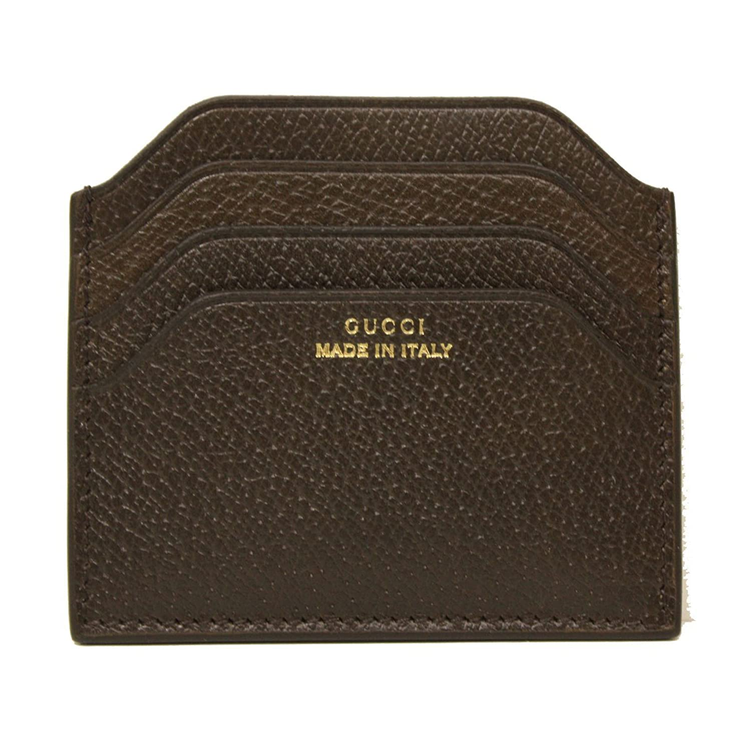 Amazon.com: Gucci \'Made in Italy\' Pigskin Leather Card Case 322107 ...