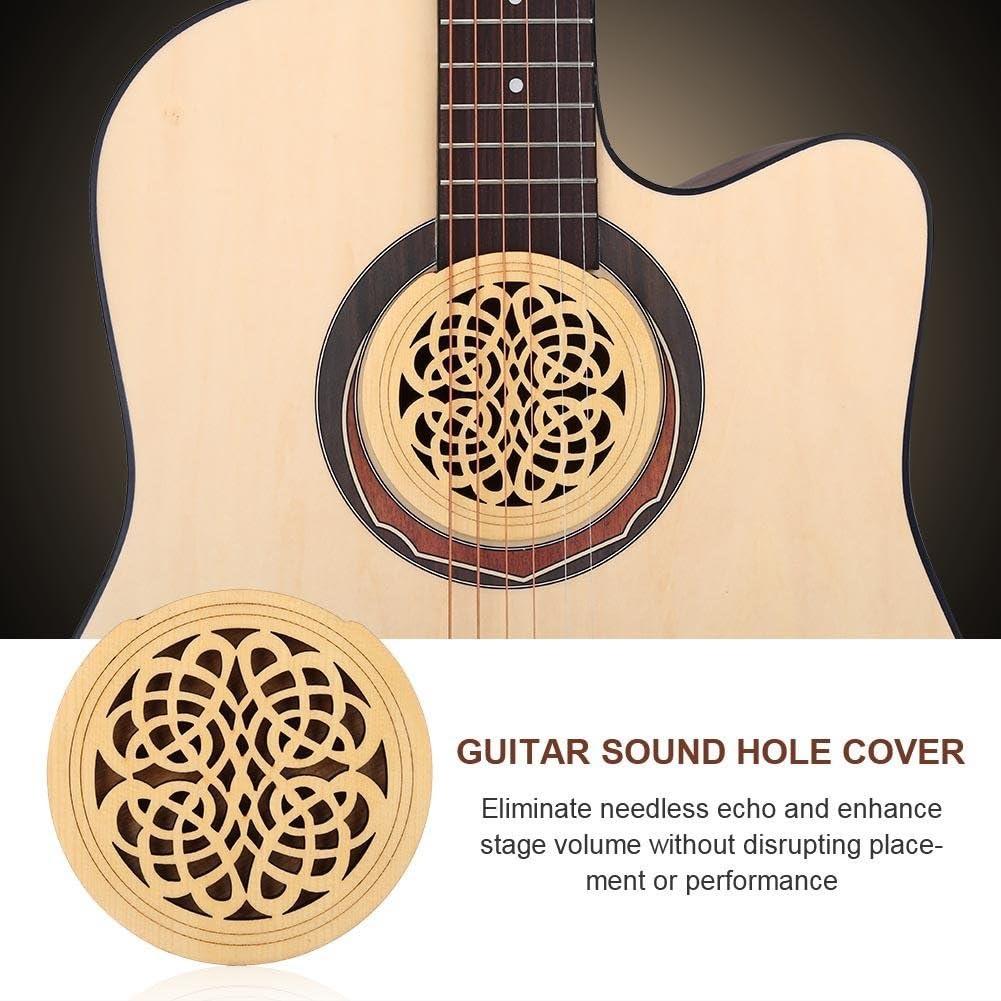 Cubierta para orificio de sonido para guitarra, madera Pickup ...