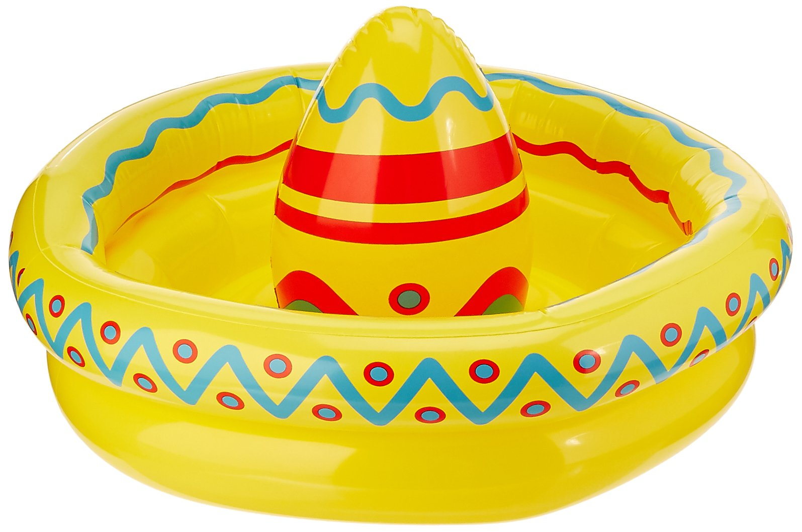 Beistle Inflatable Sombrero Cooler Party Accessory 18-Inch by 12-Inch (1 count), Multicolor, One Size by Beistle