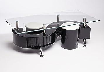 Desingner Miami Couchtisch S Form Glaskristall Platte Rechteckig