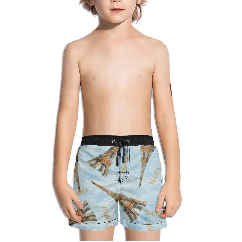 Ouxioaz Boys' Swim Trunk Paris Eiffel Tower Beach Board Shorts