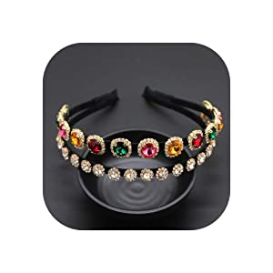 Baroque Rhinestone Double Headband Version Of The Trend Headband Two Layers Full Of Geek Temperament Headband 914,2