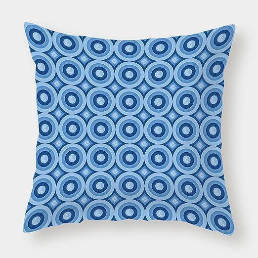 iPrint Funda de cojín de poliéster, azul marino, abstracto ...